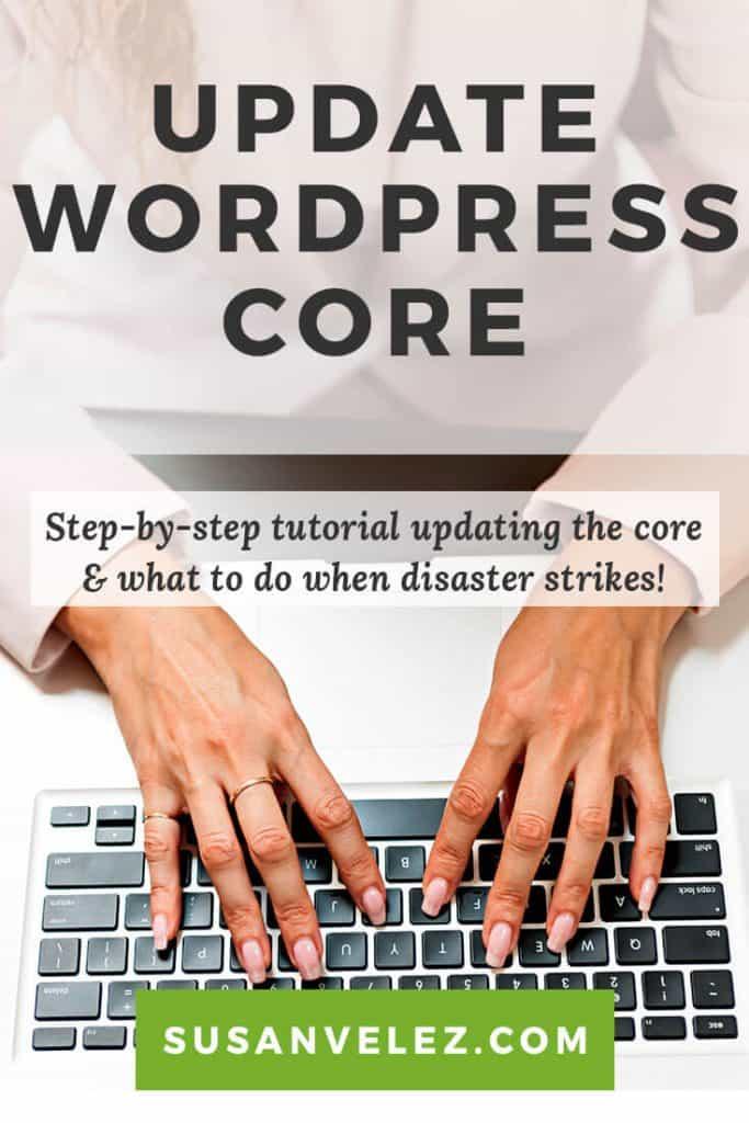 how to update the WordPress core