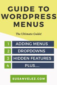 ultimate guide to WordPress menus