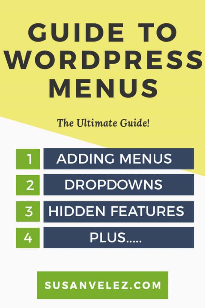 ultimate guide to WordPress menus