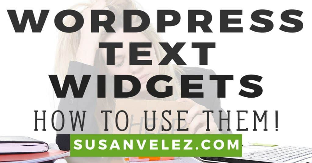 WordPress text widget