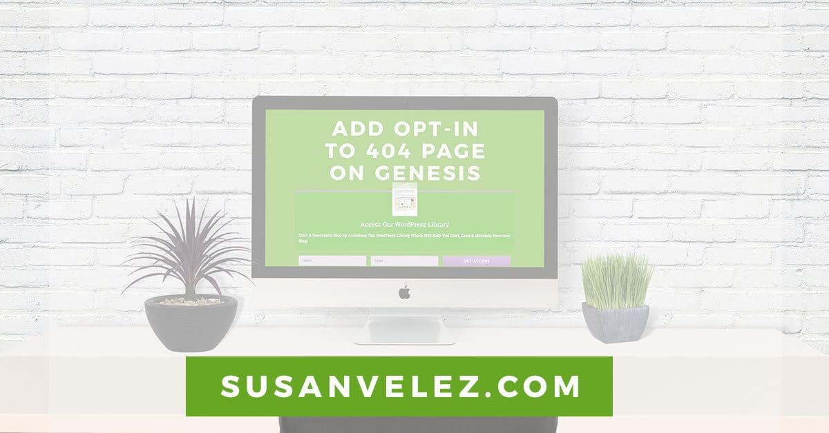 add an opt in box to your 404 page