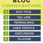 6 crucial blog configurations