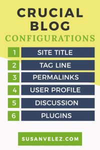 Tips for beginners who are starting a blog. These 6 configurations should not be overlooked when you're ready to follow through and hit publish.