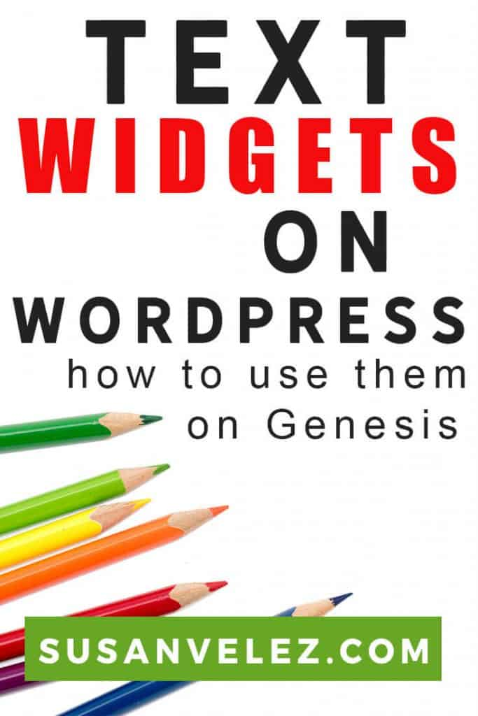 Working with WordPress widgets is not as hard as you might think. You will realize that the WordPress text widget can make your life easier and will help you get things done quickly. #wordpress #blogging #genesis