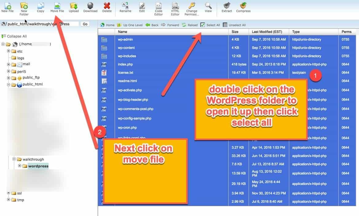 access files in WordPress folder