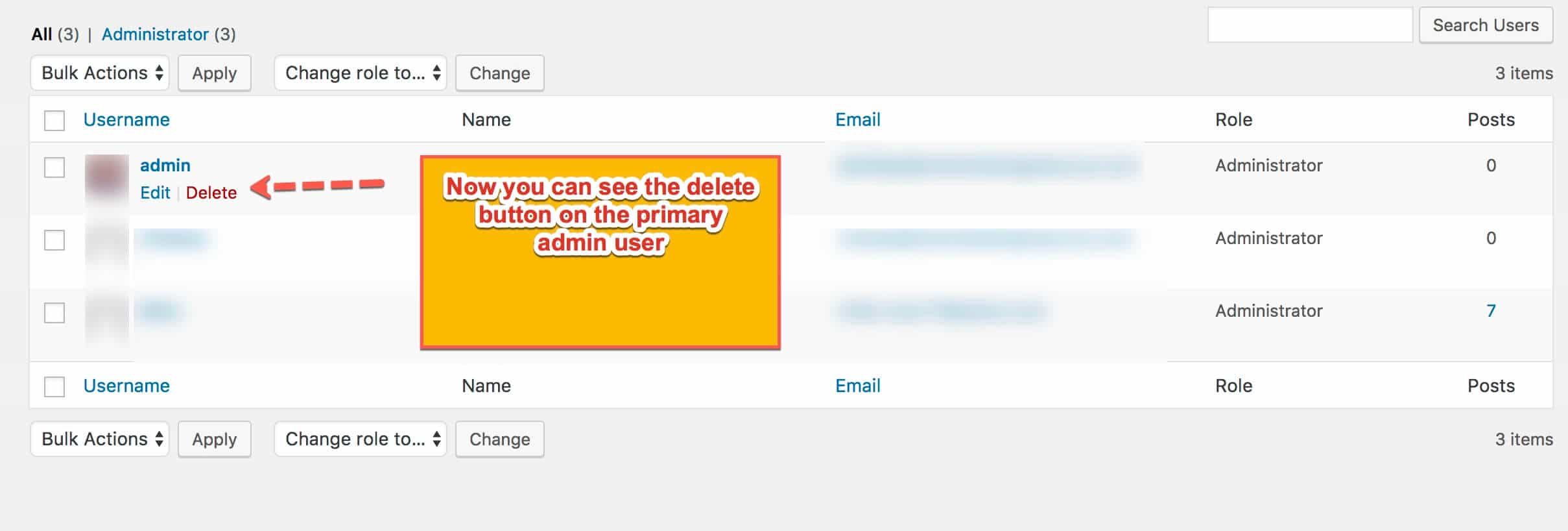delete admin user