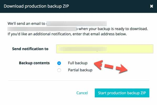 download production zip file