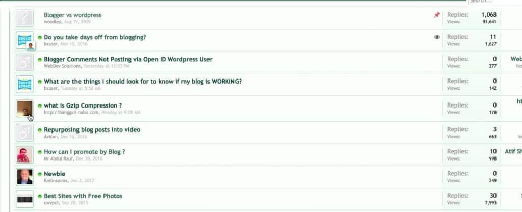forum posts