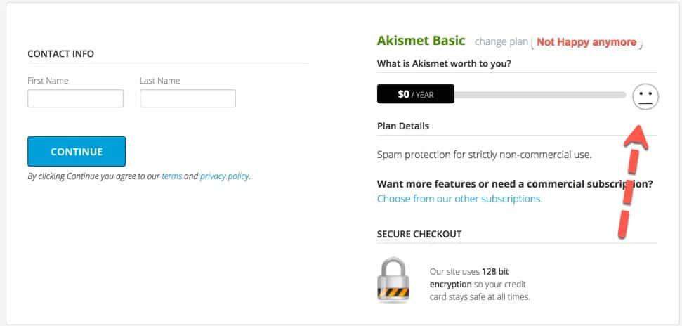 free Akismet Plan