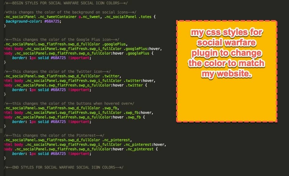 my css styles for Social Warfare plugin