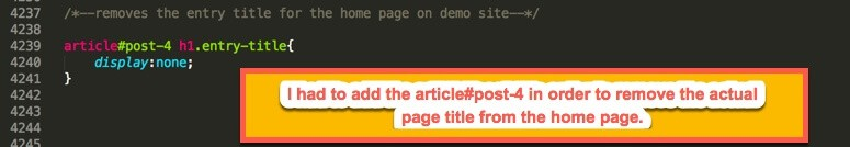 remove page title from 2017