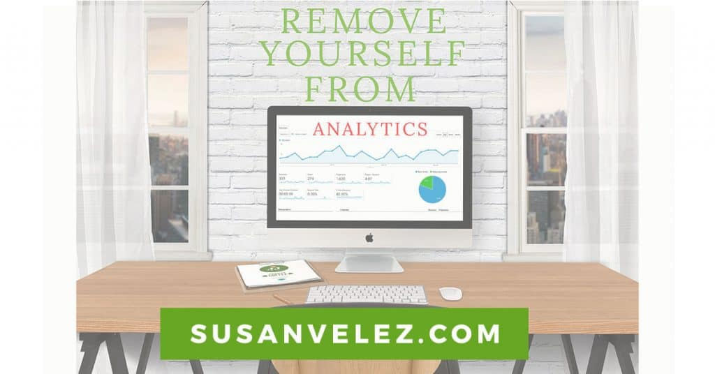 remove yourself from your analytics