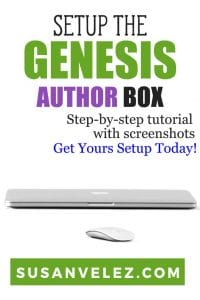 Once you've installed and set up the Genesis Framework there's one vital step you need to take if you want people to start following you and seeing you as an expert. In this tutorial we are going to learn how to set up the Genesis author box. #Genesis #WordPress #blogging