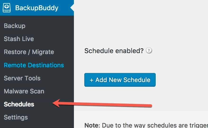 Setup Backup Buddy Schedules