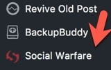 social warfare plugin navigation