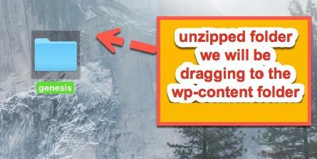 unzipped folder