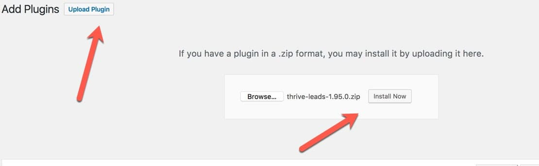 Upload a WordPress plugin