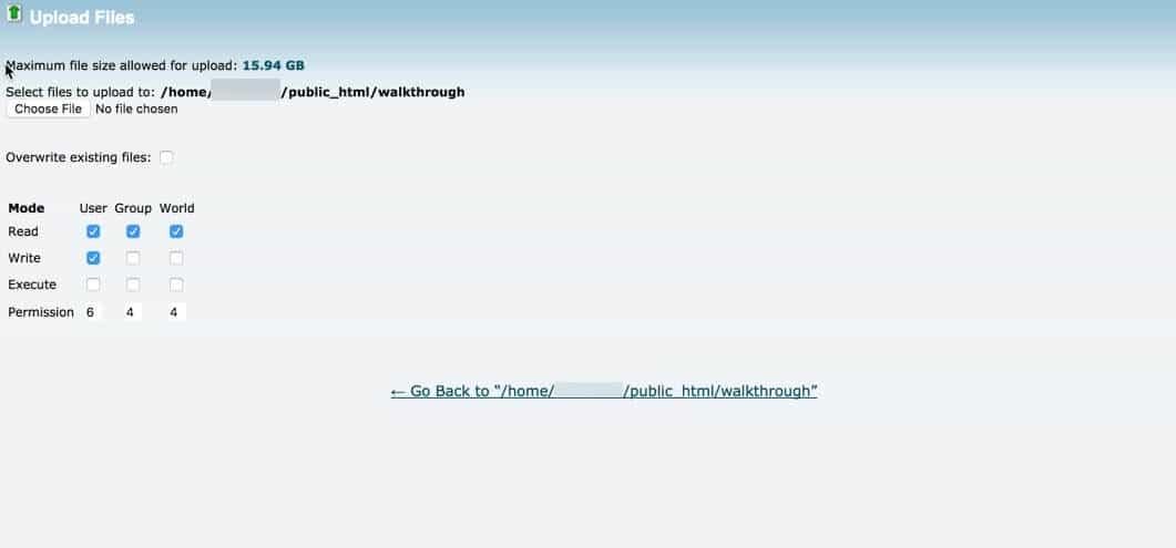 Uploading WordPress to public html