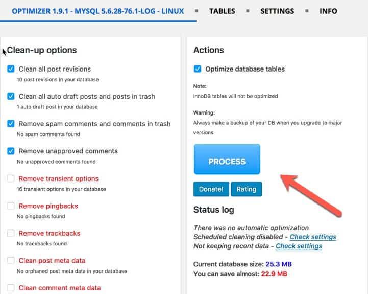 WordPress optimize