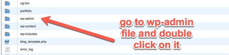 wp admin folder