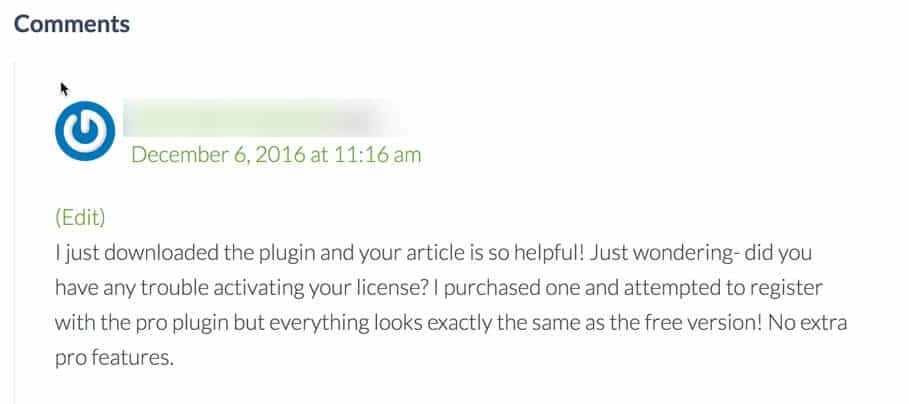 your blog comments