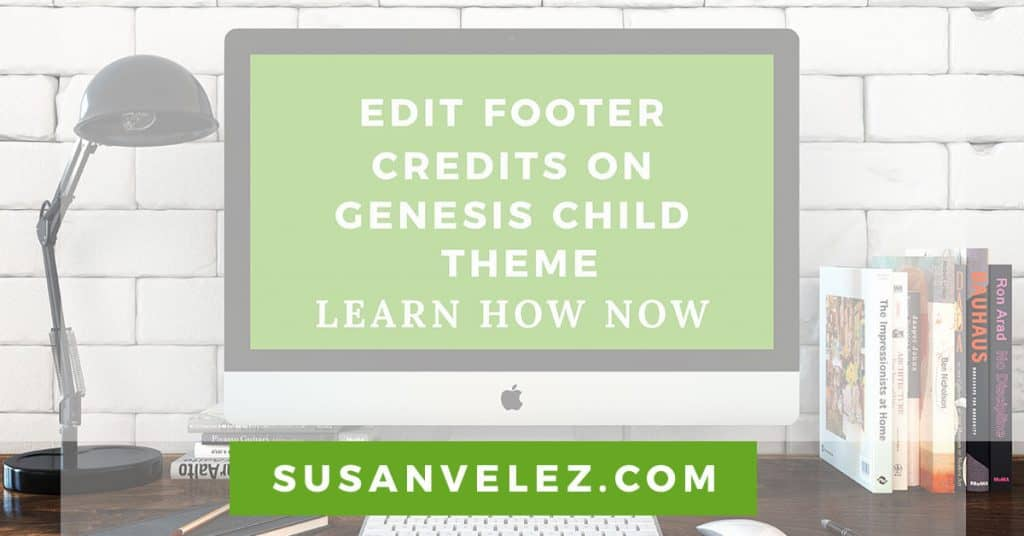 edit WordPress footer credits using the Genesis child theme
