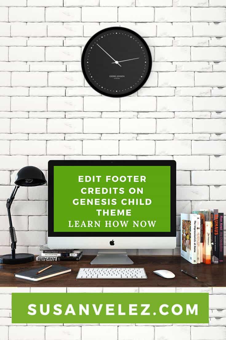 Edit WordPress Footer Credits Using The Genesis Child Theme