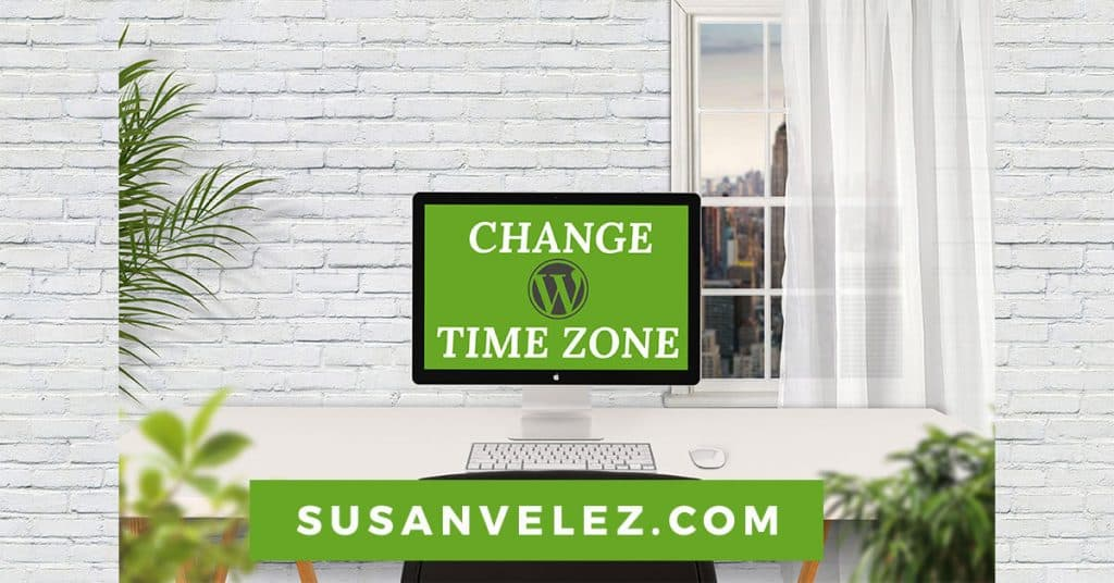 how to change your WordPress time zone