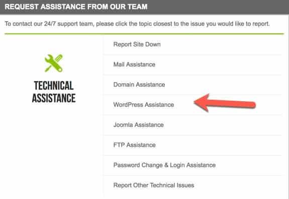 request technical assistance