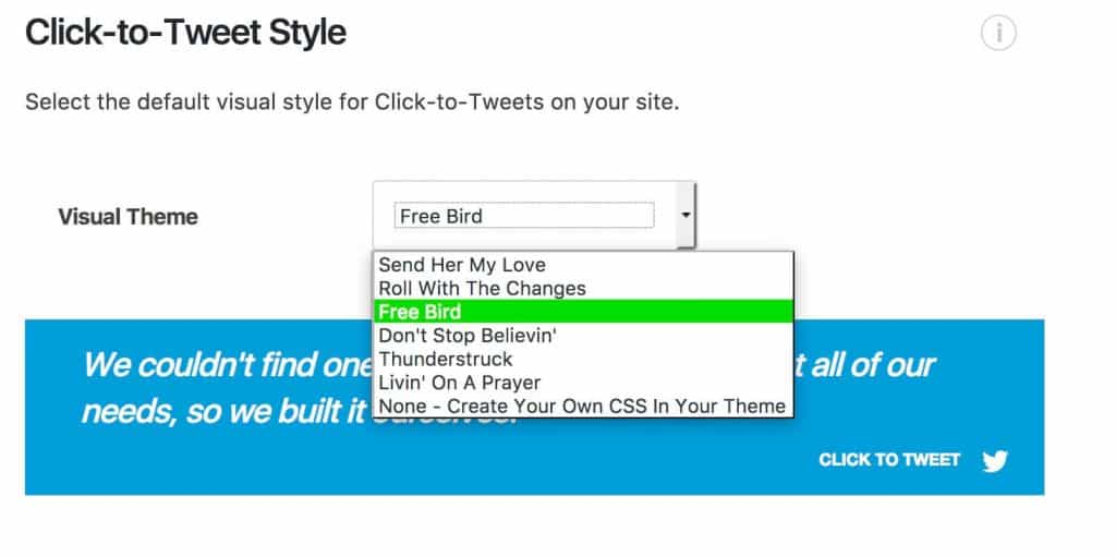 Click to Tweet Styles
