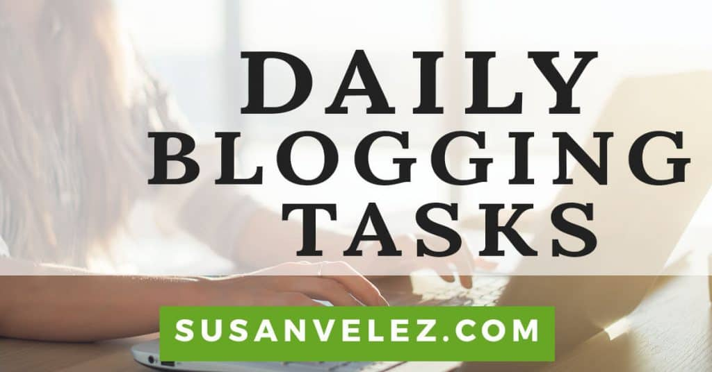 daily blogging tasks