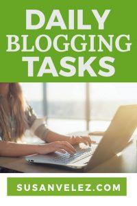 daily blogging tasks