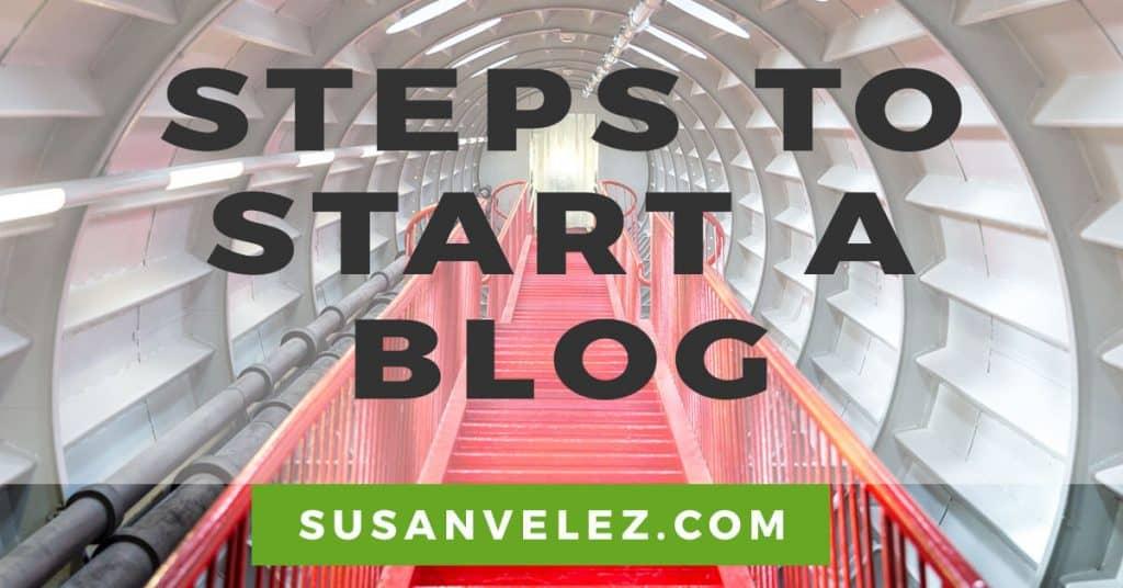 steps to start a blog