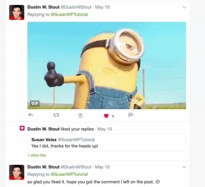 twitter comment Dustin