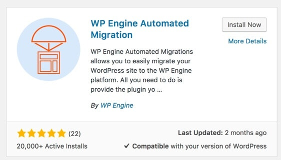 WP Engine automation Migration