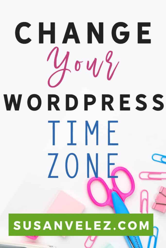 Have you changed your WordPress time zone? If not then here is a tutorial that will walk you through step-by-step. I've even included a video for those of you who are visual learners, let's get your time zone set up correctly. #blogging #WordPress #bloggingtips