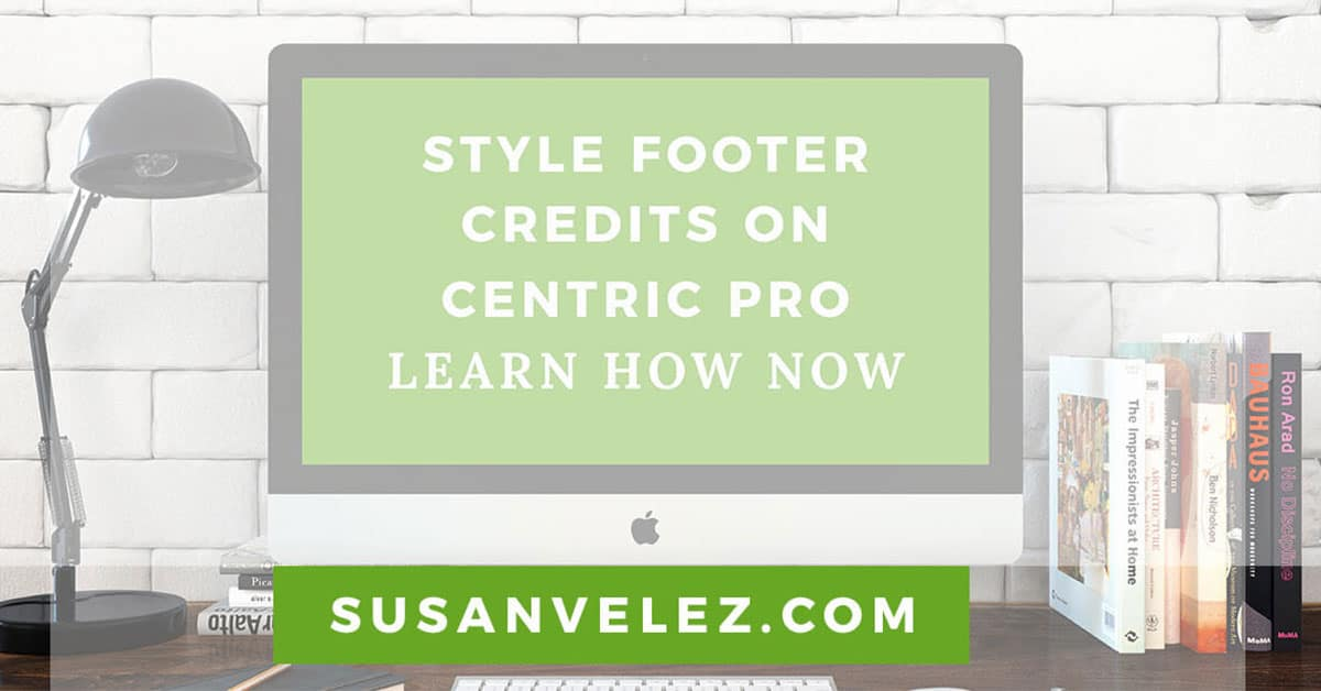 style your WordPress footer credits on the Centric Pro theme