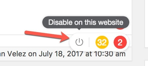 disable Grammarly