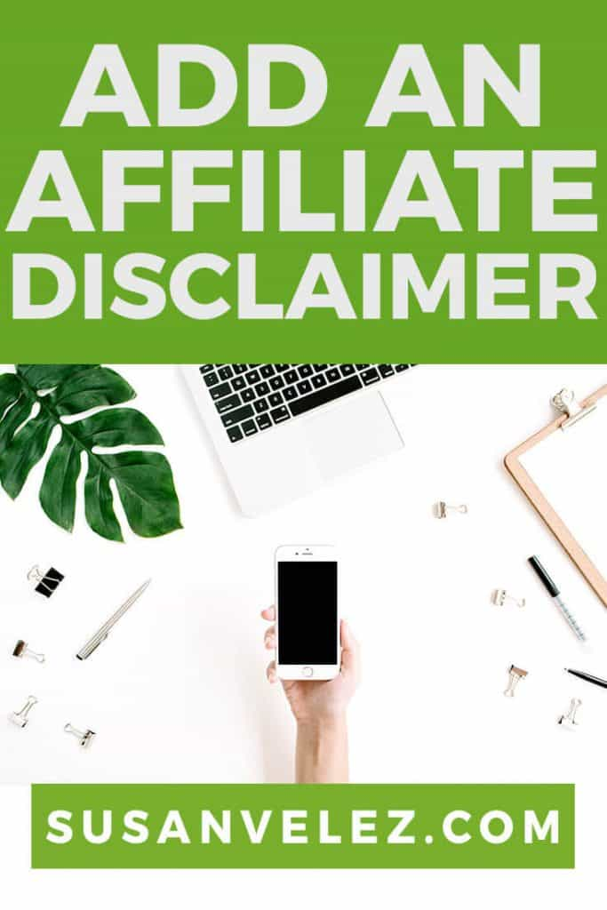 how to add an affiliate disclaimer to Genesis