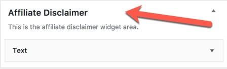 new affiliate disclaimer widget