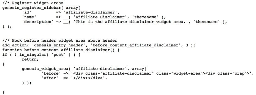 widget code