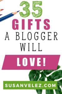 Running a blog takes a lot of time and effort. Every blogger needs tools and resources to help them grow their blog. This is the reason that I've decided to write this post on 35 gifts for bloggers. #blogging #blogger