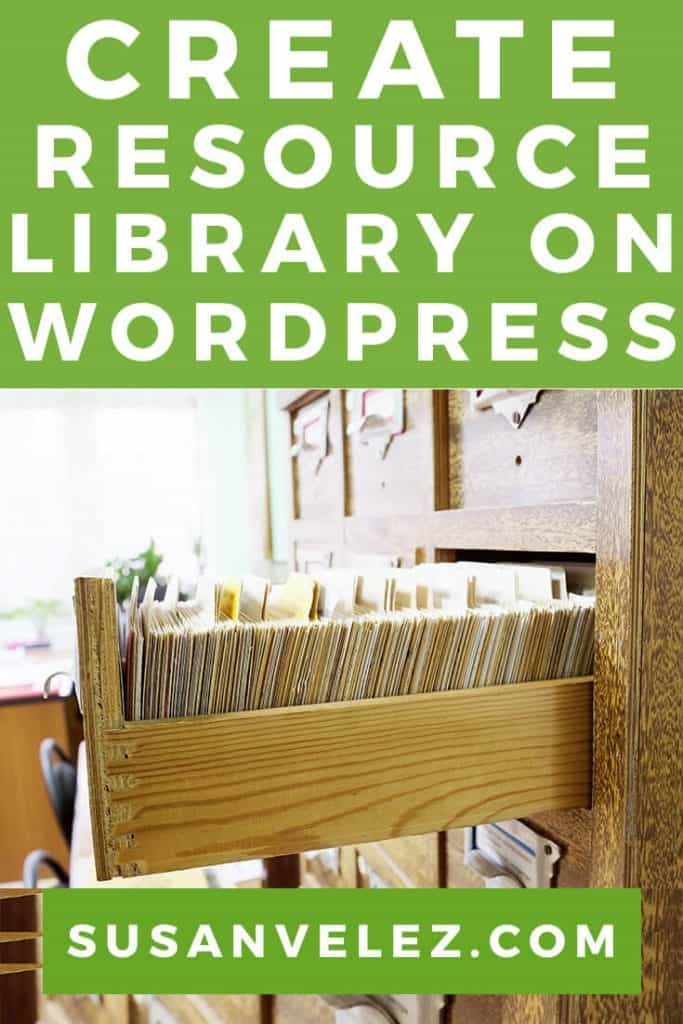 how to create a free resource library on WordPress