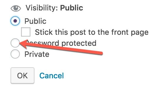 password protect