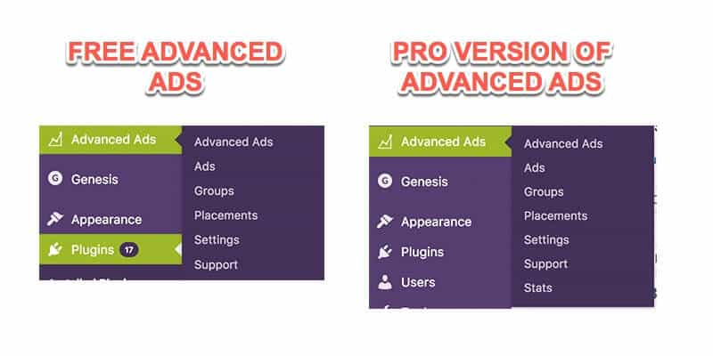 Advanced Ads comparison