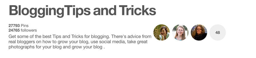 Blogging Tips and Tricks Pinterest Group Boards