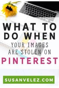 How to remove pins from Pinterest when you realize it's been stolen. Pen theft is real and in this tutorial, I show new bloggers how to report a pin on Pinterest. If you're just learning how to use Pinterest to drive traffic to your blog, you want to know what to do when you realize that someone has stolen your image on Pinterest.
