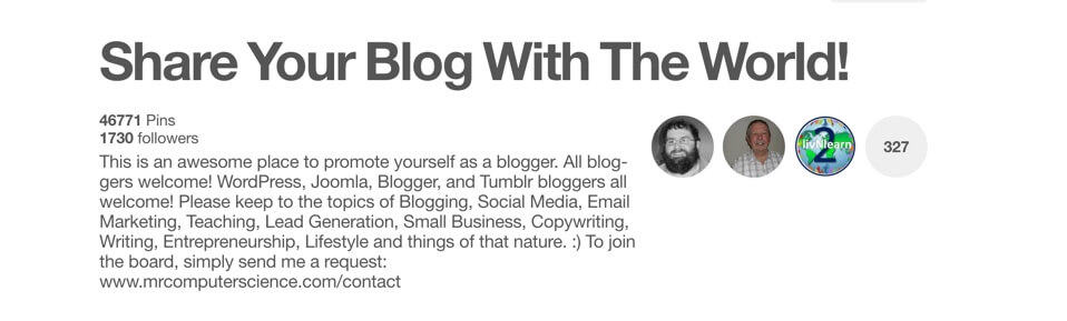 Share your blog with the world