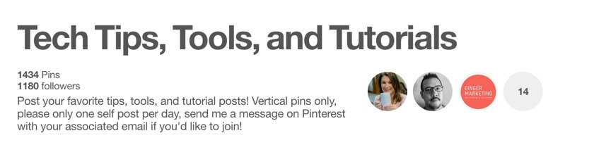 Tech Tips and Tutorials Pinterest Group Board