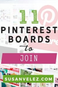 Pinterest group boards every blogger should join. Growing a blog is hard, you need to be on Pinterest. I've found 11 Pinterest Group boards you can join today.